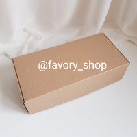 Cake Box 12x25 Brown Kraft / Packaging Kue / Kemasan Kue / Gift Box
