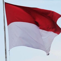 bendera merah putih. tinggi 90 lebar 120