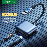Ugreen 2in1 Usb C to 3.5mm Audio Charging for Samsung/ Ipad pro 60164
