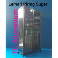 Lemari Piring Super 2 Pintu LPS 809-86x38x168 Cm Riben, Full Coklat