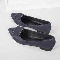 Guzzini FB 111 Biru Dongker - Sepatu Flat Wanita Casual