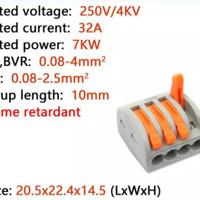 Wago 4pin connector kabel terminal blok CMK414