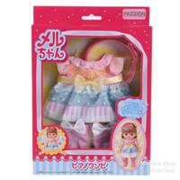 Baju Boneka Mell Chan Piano Dress Lengkap