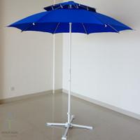 Tenda Payung Susun 2 (tanpa kaki) - Merah