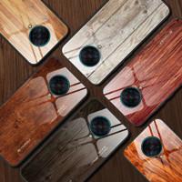 Wood Glass Case Xiaomi Poco F2 Pro Pocophone F2Pro RedmiK30Pro Casing