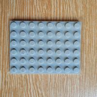 Lego Plate 6x8 Light Bluish Grey 3036