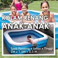 Kolam Renang Anak Jumbo Kolam Renang Keluarga Ukuran 2 Meter / 2 Cm
