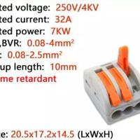 Wago 3pin connector kabel terminal blok CMK413