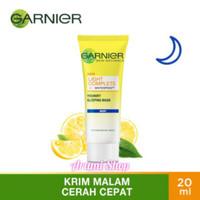 Garnier light complete night yoghurt sleeping mask krim malam 20ml