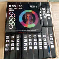 New Ringlight RGB Rainbow 26 cm Ring Light 10 inch Plus Holder hp