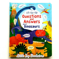 Usborne Lift The Flap Questions and Answers Dinosaurs. Buku Anak Impor