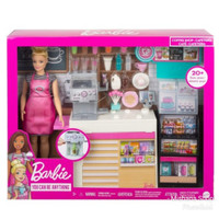 Boneka Barbie Mattel Coffee Shop Doll Pembuat Kopi Playset
