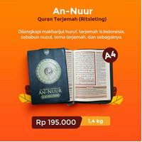 Al-Quran Terjemah An-Nuur cover resleting uk Besar A4 Alquran An-Nur