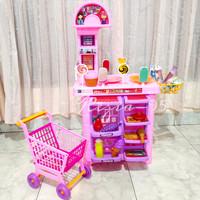Mainan Anak Megamart Supermarket Kasir Kasiran Minimarket Troli