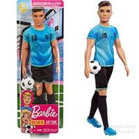 Boneka Barbie Mattel Ken Career Soccer Player Latin