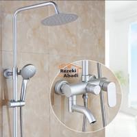 Shower Column Set Full Alumunium / Kran Panas Dingin / Shower Mandi