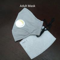 Masker PM 2.5 Adult Size 1 Katup Udara Incld 1 Filter - Grey