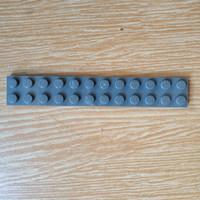 Lego Plate 2x12 dark bluish grey 2445