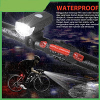 lampu LED depan sepeda rechargeable waterproof