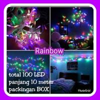 RAINBOW LED Warna Warni Lampu Hiasan Tumbler Lamp Pohon Natal Cafe Dll