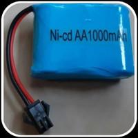 Baterai Rc Car Rock Clawler 3.6v 2/3 AA 1000mAh Socket Hitam 3,6V