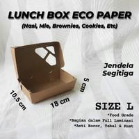 Paper Box Lunch Ukuran L Food Grade / Kotak Take Away