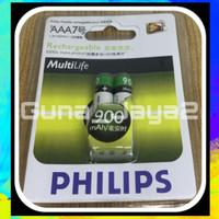 Baterai Charger AAA PHILIPS 900Mah 1.2V Baterai Cas AAA Philips 900Mah