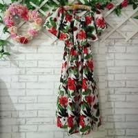 Dress Sabrina big size/dress sabrina flowery jumbo