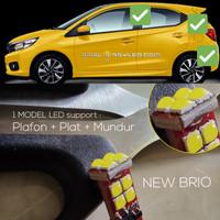 lampu led mobil honda new brio plafon kabin + plat + mundur CREE isi 5