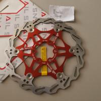 (Merah) Rotor Cakram Snail Sepeda 160mm Floating Disc