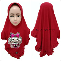 Jilbab Anak Airish Gotik Usap LOL Usap+LED Berubah Warna dan Menyala