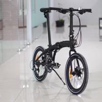 Sepeda Lipat Element Ecosmo Z10 Black Coral Flat handlebar