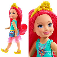 Boneka Barbie Mattel Chelsea Sprite Dreamtopia Blue Red Hair atau Boy