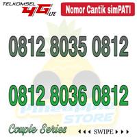 Nomor Cantik Simpati telkomsel 4G LTE seri Couple 0812 xx 0812