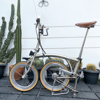 Sepeda Lipat 3sixty Electric Chrome Brompton Parts Folding Bike