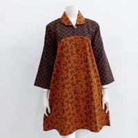 Dress batik sogan lawasan janges