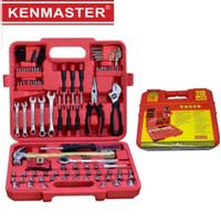 Tool Kit Kenmaster 110 Pcs. Kunci Sock Set. Perkakas Set