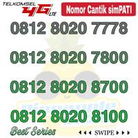 Nomor Cantik Simpati telkomsel 4G LTE seri 8020 XX00