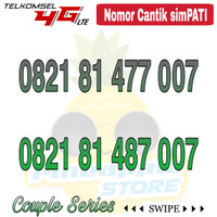 Nomor Cantik Simpati telkomsel 4G LTE seri couple 007