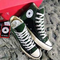 sepatu converse hijau/green Army