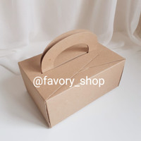 Mini Cake Box 12 x 18 x 8 Brown / Packaging Kue / Gift Box / Snack Box