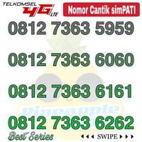 Nomor Cantik Simpati telkomsel 4G LTE seri 7363 ABAB