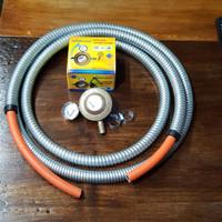 Winn gas regulator W-199 meter + selang kompor 3 meter + flexible