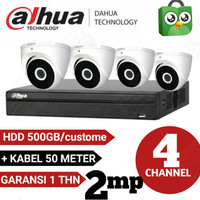PAKET CCTV 4 CHANEL DAHUA 2MP 1080P FULL HD KOMPLIT TINGGAL PASANG