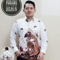 Kemeja Batik Wayang Coklat Lengan Panjang
