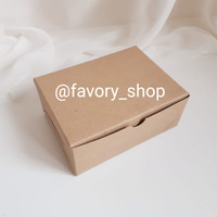 Snack Box Kecil 12 x 9 x 5 Brown / Packaging Kue / Mini Cake Box