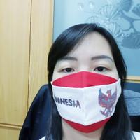 Masker 3D Merah Putih