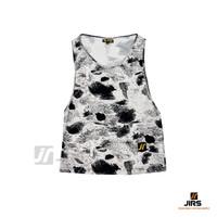 Singlet Kaos Tank Top Full Print Bandung Gym Fitness - Coret Hitam