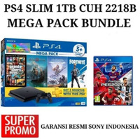 PS4 - PAKET PS4 SLIM 1 TB MEGA PACK 2 BUNDLE PES 2020