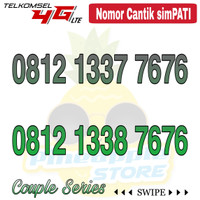 Nomor Cantik Simpati telkomsel 4G LTE seri couple 7676